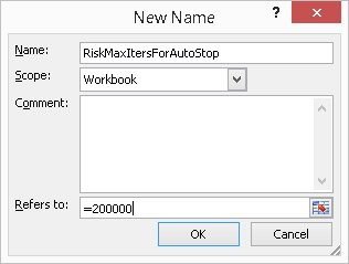 Name Manager dialog to create RiskMaxItersForAutoStop