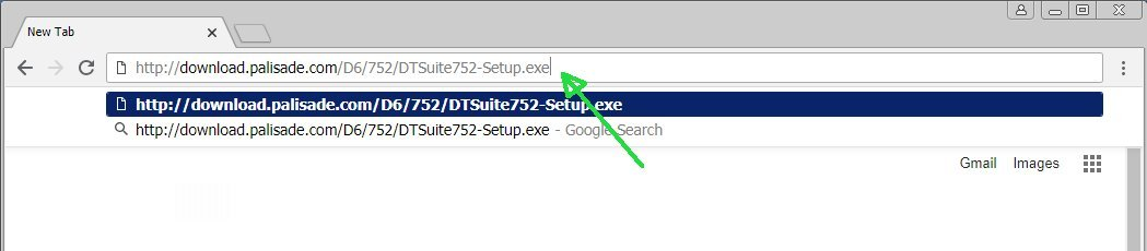 Location bar of Chrome browser