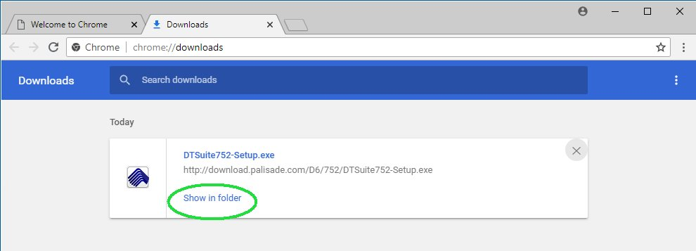 'Show in Folder' in Chrome browser